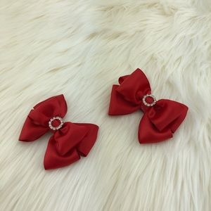 Accessories - Flower Headband with two ribbon clips handmade